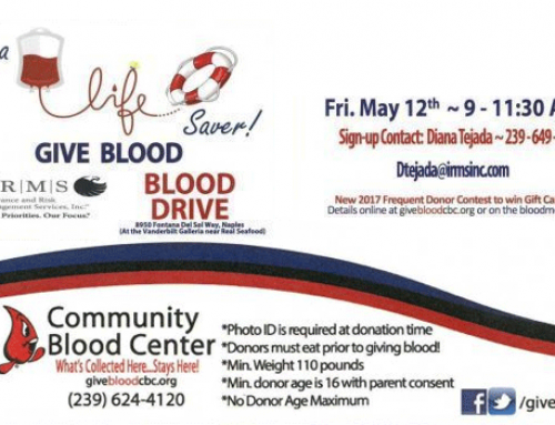 IRMS Blood Drive | NCH Community Blood Center | May 2017